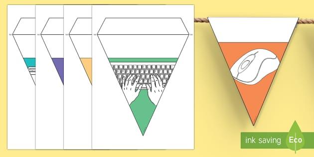 Banderitas de nombres temáticas: Informática - banderitas, nombres, informática,Spanish