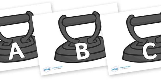 A-Z Alphabet on Irons - A-Z, A4, display, Alphabet frieze, Display letters, Letter posters, A-Z letters, Alphabet flashcards