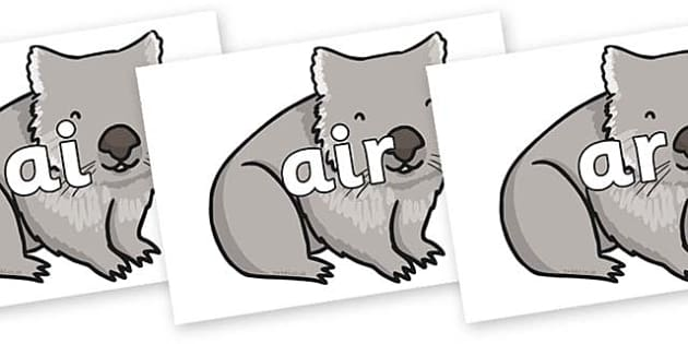 Phase 3 Phonemes on Wombat - Phonemes, phoneme, Phase 3, Phase three, Foundation, Literacy, Letters and Sounds, DfES, display