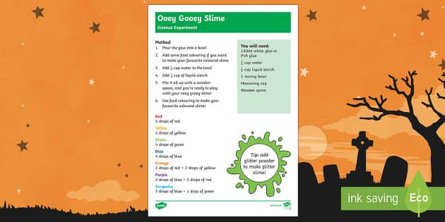 Ooey Gooey Slime Recipe