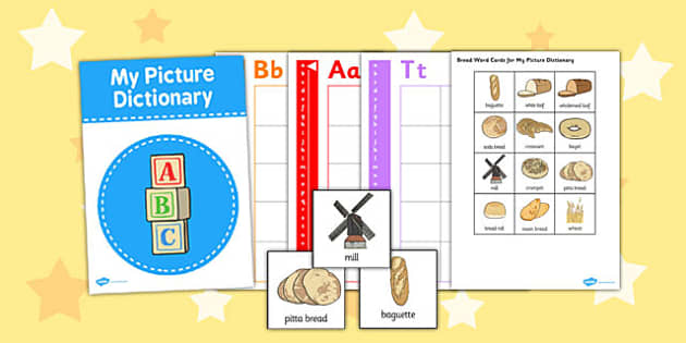 Bread Picture Dictionary Word Cards - dictionary, word, cards