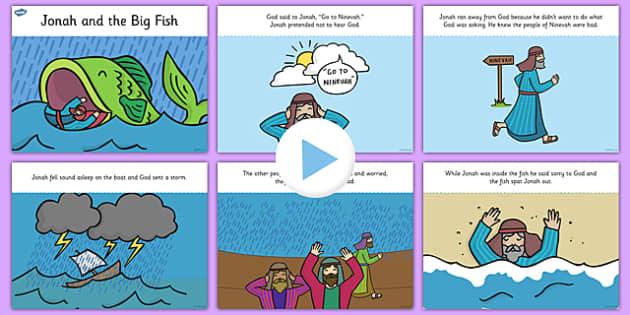 Jonah and the Big Fish Story PowerPoint - jonah and the big fish, jonah and the big fish powerpoint, jonah and the big fish story, bible stories, jonah