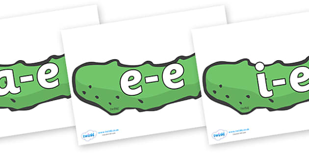 Modifying E Letters on Pickles to Support Teaching on The Very Hungry Caterpillar - Modifying E, letters, modify, Phase 5, Phase five, alternative spellings for phonemes, DfES letters and Sounds