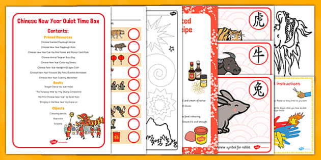 Chinese New Year Quiet Time Box - Chinese New Year, Activities, quiet time box, quiet time, box