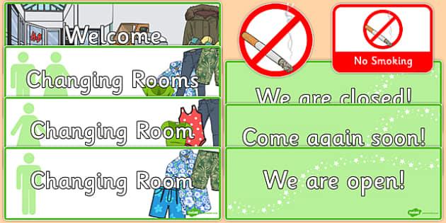 Clothes Shop Signs - australia, Clothes shop Role Play, clothes shop resources, shop, till, buy, money, clothes, ourselves, shoes, role play, display, poster