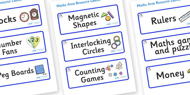 Sports Themed Editable Maths Area Resource Labels - Themed maths resource labels, maths area resources, Label template, Resource Label, Name Labels, Editable Labels, Drawer Labels, KS1 Labels, Foundation Labels, Foundation Stage Labels, Teaching Labe
