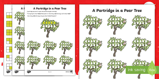Partridge In A Pear Tree Activity Sheet