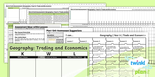 PlanIt - Geography Year 6 - Trade and Economics Unit Assessment Pack