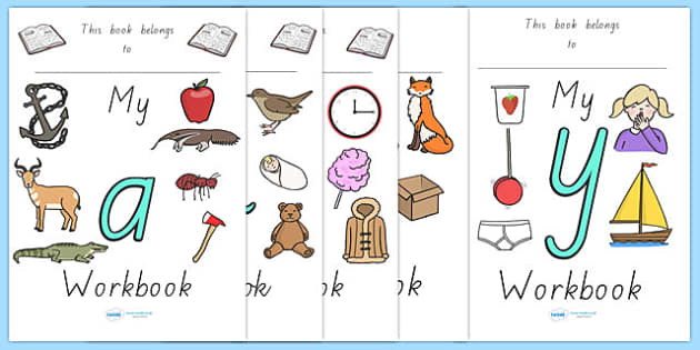 My Alphabet Workbook Pack - english, literacy, activities, letter, formation, home, school, australia