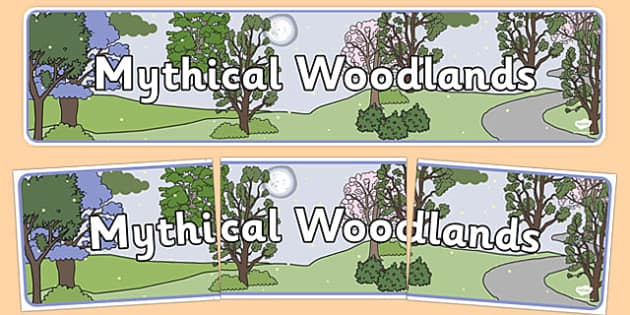 Mythical Woodlands Display Banner - banners, displays, woods