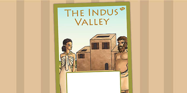 The Indus Valley Book Cover - indus valley, folder cover, history
