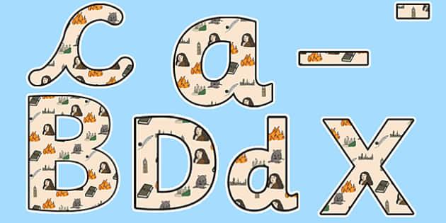 Samuel Pepys Themed Display Lettering - Samuel Pepys, display lettering, themed lettering, classroom lettering, lettering, letters for display, display
