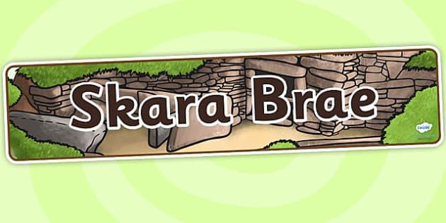 Skara Brae Display Banner - skara brae, banner, history, display