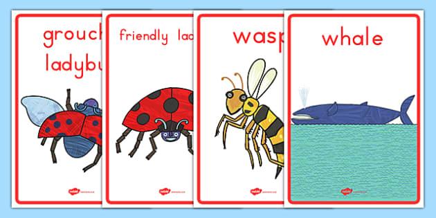 The Grouchy Ladybug Display Posters - usa, america, the grouchy ladybug, display posters