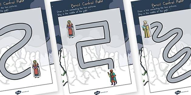 Babushka Pencil Control path Worksheets - australia, babushka