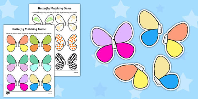 Butterfly Matching Game - butterfly, matching game, game, match