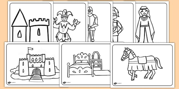 castles and knights colouring sheets knights castles colouring fine motor skills