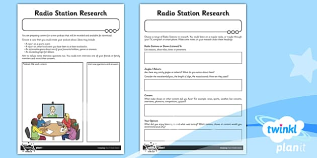 PlanIt - Computing Year 5 - Radio Station Unit Home Learning Tasks - planit, computing