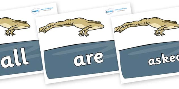 Tricky Words on Frog - Tricky words, DfES Letters and Sounds, Letters and sounds, display, words