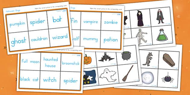 Halloween Bingo - halloween, halloween bingo, halloween lotto, halloween activities, halloween games, fun games, group games, whole class activities, fun