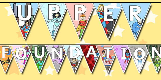 Welcome to Upper Foundation Bunting Superhero Themed - bunting