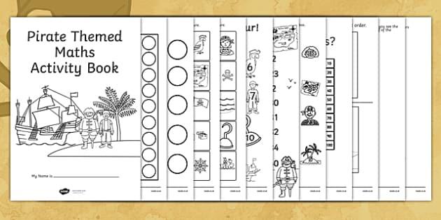 Pirate Themed Maths Activity Book - pirate, maths, activity, book