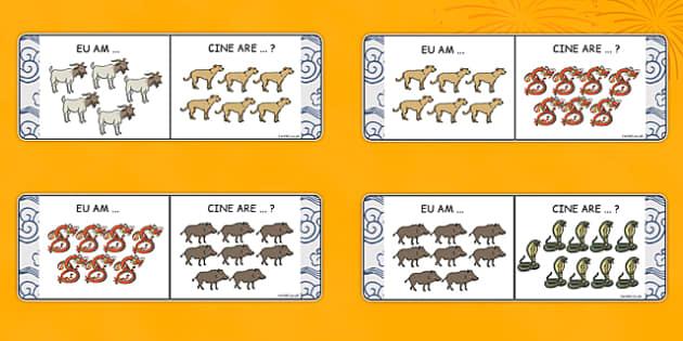 Eu am… Cine are … Animalele zodiacului chinezesc - Joc