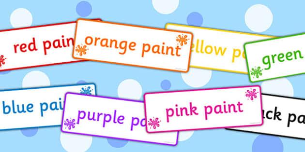 Paint Labels - paint labels, paint, labels, colours, display