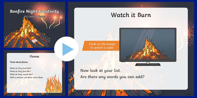 Bonfire Night Creativity Lesson 1 Flames PowerPoint