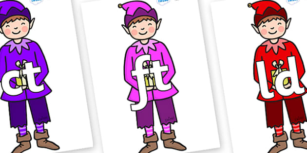 Final Letter Blends on Boy Elves (Multicolour) - Final Letters, final letter, letter blend, letter blends, consonant, consonants, digraph, trigraph, literacy, alphabet, letters, foundation stage literacy