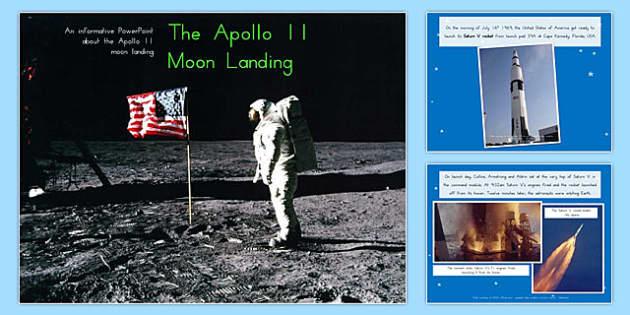 Apollo 11 Moon Landing Report Information PowerPoint - australia