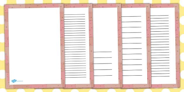 Brick Portrait Page Borders - brick, page borders, page, borders
