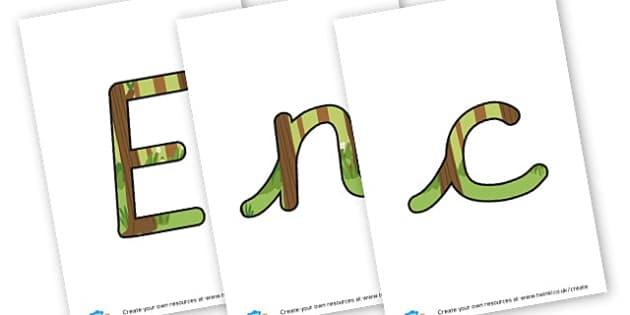 Enchanted Woodland - Display Lettering - Forest & Woodland Display Primary Resources, forest, woodland