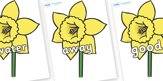Next 200 Common Words on Daffodils - Next 200 Common Words on  - DfES Letters and Sounds, Letters and Sounds, Letters and sounds words, Common words, 200 common words