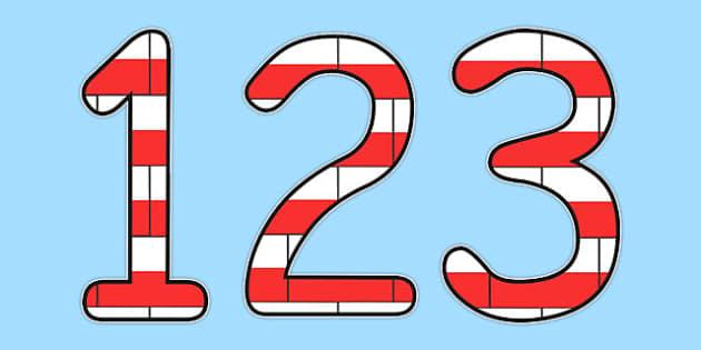 Kolorowe cyfry z flagami po polsku - materialy edukacyjne , Polish