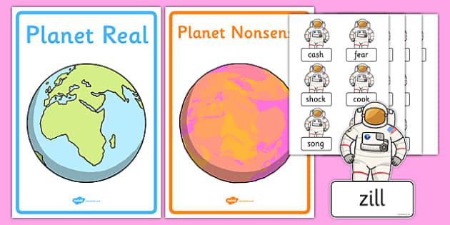 Phase 3 Real and Nonsense Words Sorting Activity Sheet, worksheet