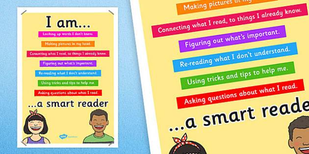 Smart Reader Poster - smart reader, reading, display poster, poster for display, classrooom posters, classroom display, reading display, books, literacy