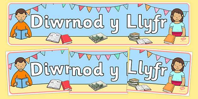 Baner Arddangos Diwrnod y Llyfr Welsh - World Book Day, Book Day, literacy, English, Wales, display, banner, dydd , ddydd, ddiwrnod