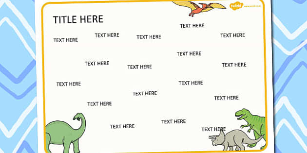 Dinosaurs Themed Editable Word Mat - literacy, words, writing