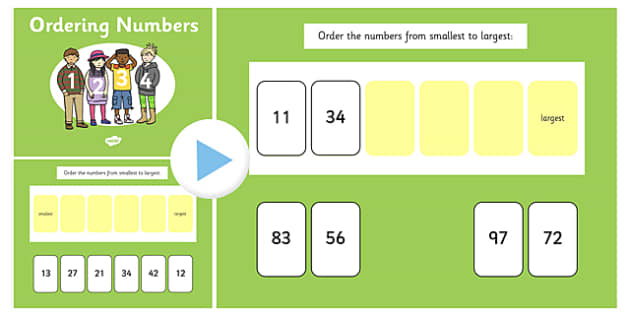 Ordering 2 Digit Numbers Flipchart - order, sort, sorting, number