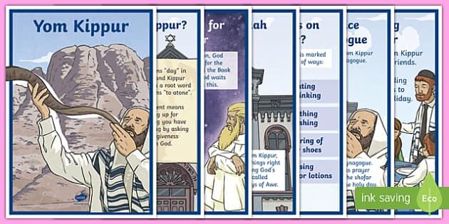 Yom Kippur Display Posters