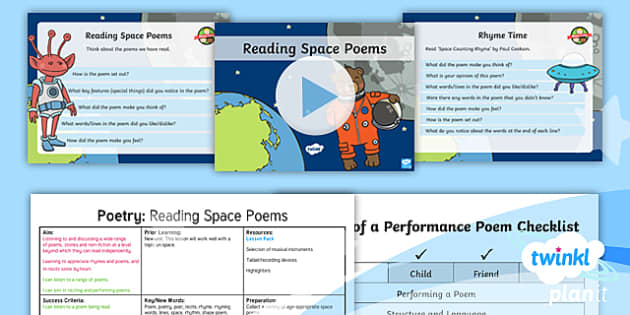 PlanIt Y1 Space: To Support Teaching on Whatever Next! Lesson Pack Poetry (1)  - Planit, English, Space, Whatever Next, Poetry, Poems, Rhyme, Rhyming Words, Performance Poetry, poem