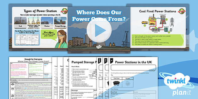 PlanIt - Geography Year 5 - Enough for Everyone Lesson 2: Where Does Our Power Come From? Lesson Pack - geography, power, electricity, generation
