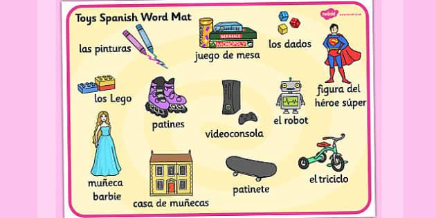 Tapiz de vocabulario de juguetes - tapiz, vocabulario, juguetes