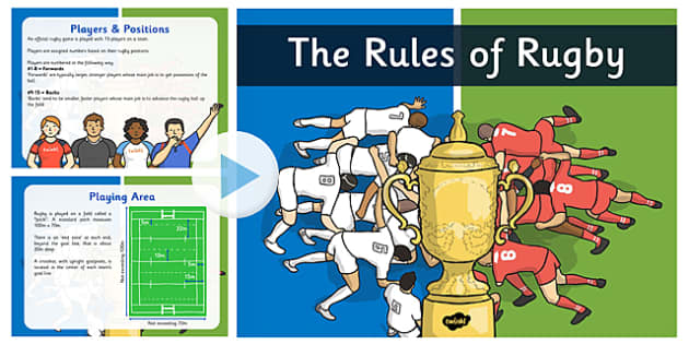 The Rules of Rugby - rugby, sport, world cup, england, sporting event, presentation, KS1, KS2