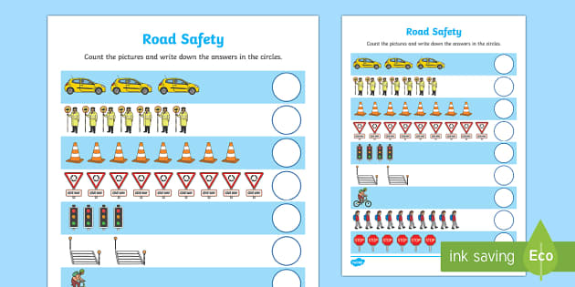 Road Safety Counting up to 10 Activity