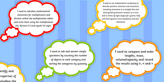 2014 Curriculum Year 2 Maths Assessment I Need To Thought Bubbles