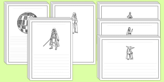 Space Wars Themed Writing Frames - space wars, star wars, space, wars, star, writing frames