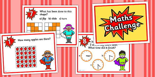 Year 2 Maths Challenge PowerPoint - numeracy, numeracy challenge