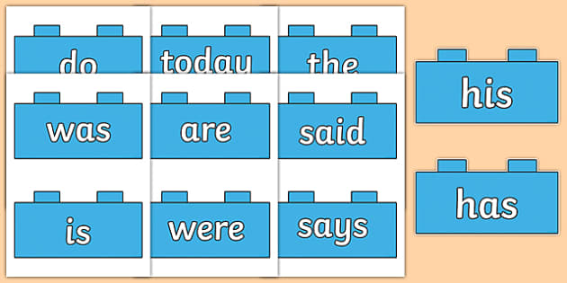 Year 1 Common Exception Words on Bricks - year 1, common exception words, bricks, display
